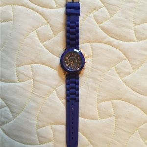 GUC Geneva royal blue jelly watch